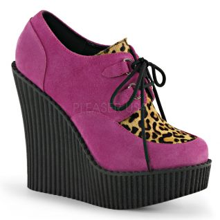Creepers talon compensé coloris rose creeper-304