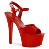 Sandale sexy plateforme coloris rouge vernis aspire-609