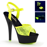 Sandale fluorescente coloris jaune talon plateforme kiss-209ml