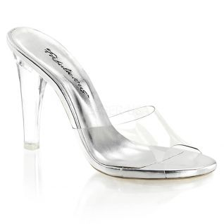 Chaussures transparentes mules talon fin clearly-401