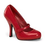 Escarpins rouges vernis style rétro