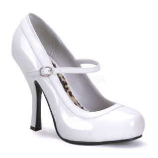 Escarpins blancs à bride