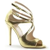 Sandales asymétriques dorées
