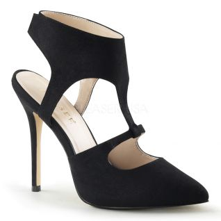 Chaussures habillées escarpins noirs à brides talon fin amuse-19