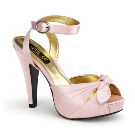 Sandales Bride Cheville en Satin Rose Talon Fin BETTIE-04