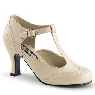 Chaussures à petit talon escarpins d'Orsay coloris caramel flapper-26