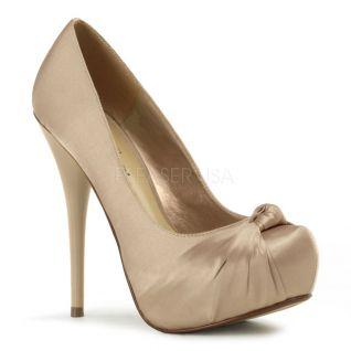 Chaussures en satin champagne escarpins à plateau talon gorgeous-28