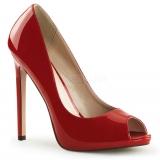 Escarpins sexy rouge vernis
