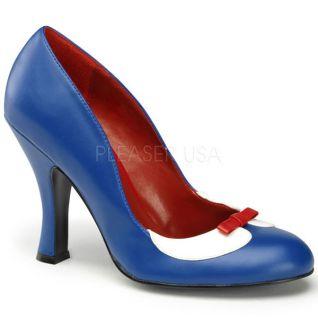 Escarpins français bleu blanc rouge à haut talon SMITTEN-05