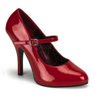 Chaussures escarpins rouges vernies à bride talon fin tempt-35
