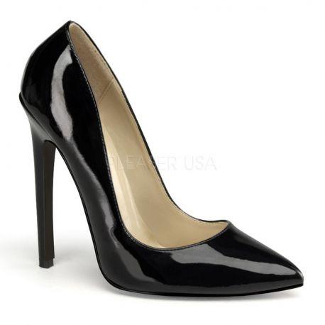 Escarpins noirs vernis sexy-20