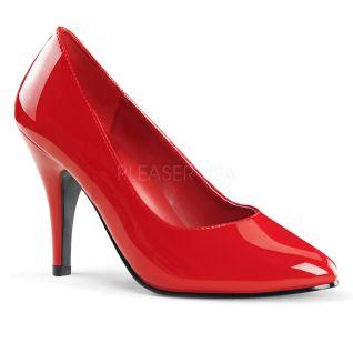 Escarpin rouge vernis spécial pied large