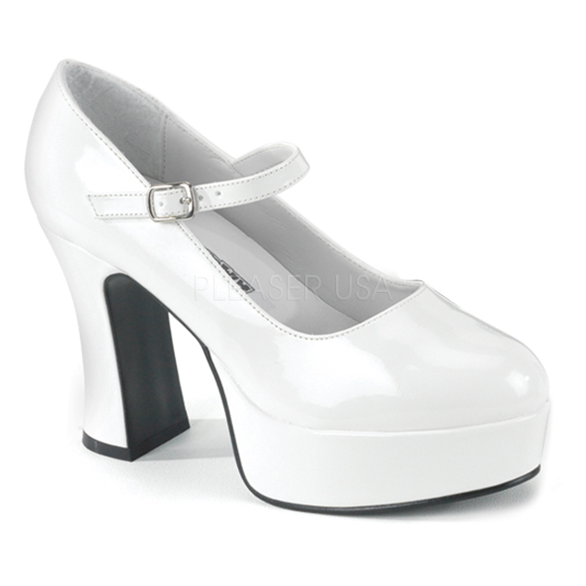 rechercher le dernier plus tard meilleur choix Escarpins pieds larges blancs vernis