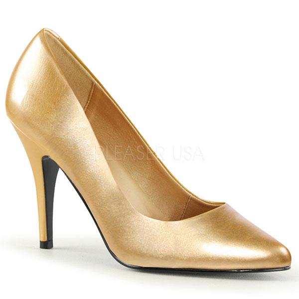 Escarpins classiques dorés talon fin - Pointure : 39