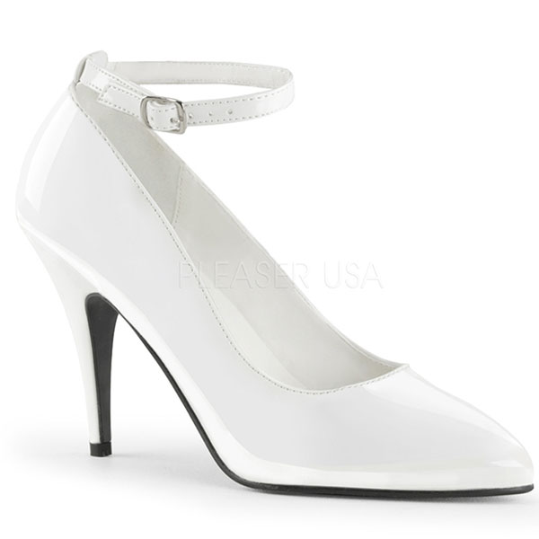 Escarpins classiques blancs vernis - Pointure : 37 - Pleaser - Modalova