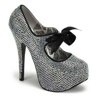 Chaussures de soirée escarpins argentés à paillettes talon haut teeze-04r