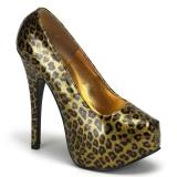 Escarpin léopard doré