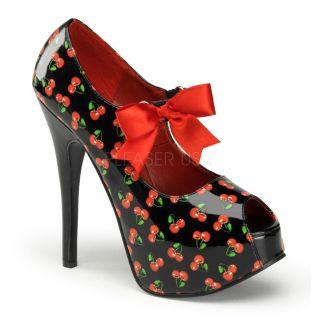Chaussures temps des cerises escarpins à lacet talon haut teeze-25-3