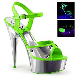 Sandale Pole Dance coloris vert talon plateforme delight-609nc