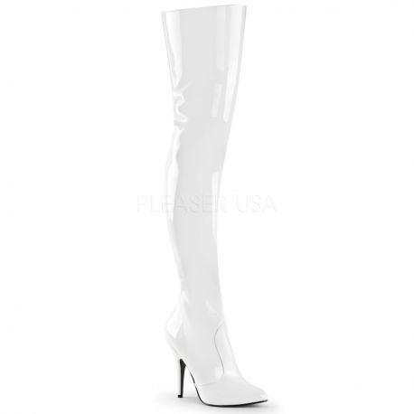 Cuissardes blanches vernies seduce-3010