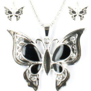 Parure bijoux fantaisie format papillon