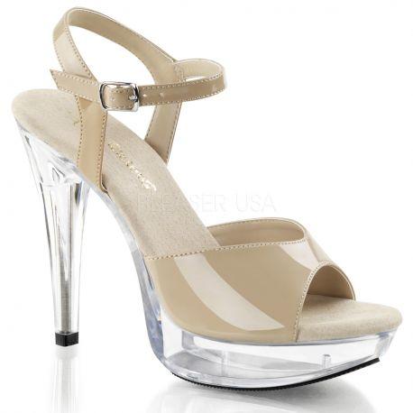 Chaussures haut talon sandales féminines coloris caramel cocktail-509