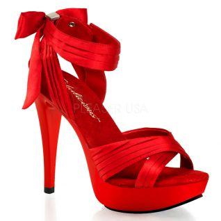 Sandale habillée coloris rouge talon fin cocktail-568