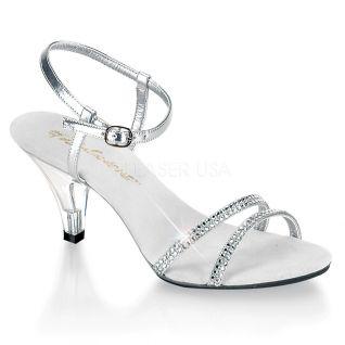 Sandales argentées petit talon belle-316