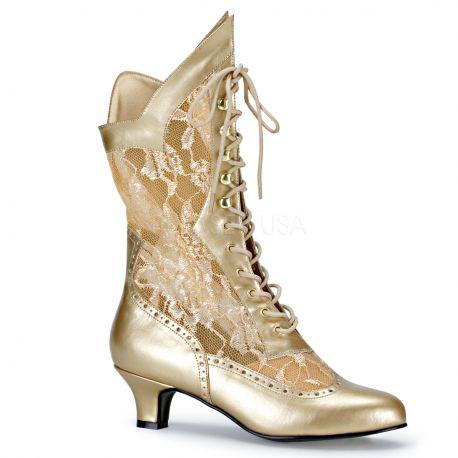 nouveau produit grande remise achat original Comment porter des bottines dorés en fine dentelle
