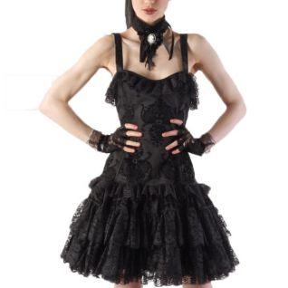 Robe gothique noire sans manches