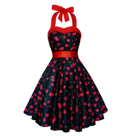 Robe Pin Up imprimée cerise
