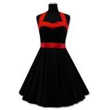 Robe rockabilly coloris noir et rouge