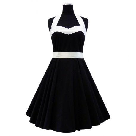 Robe années folles coloris noir et blanc