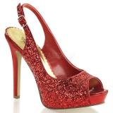 Sandales à paillettes rouges lumina-28g