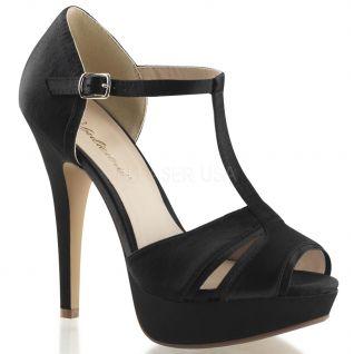 Chaussures en satin sandales noires lolita-20