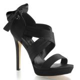 Sandales habillées satin noir lumina-29