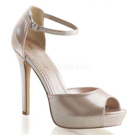 Chaussures à brides sandales coloris champagne lumina-45