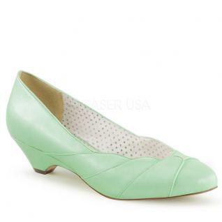 Escarpins Pin Up coloris vert pistache lulu-05