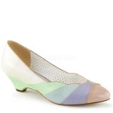 Escarpins pastels multicolores petit talon