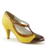 Escarpins salomés jaunes style rétro
