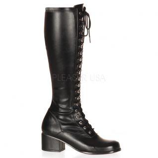 Bottes noires de majorettes rétro-302