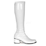 Bottes blanches style rétro