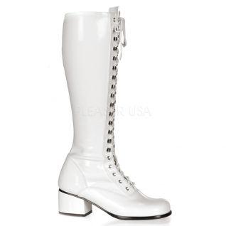 Bottes de majorettes blanches rétro-302
