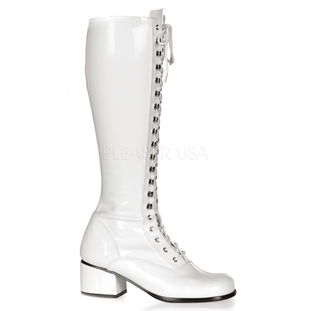 Bottes de majorettes blanches - Pointure : 46