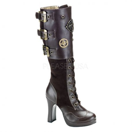 Botte Steampunk marron crypto-302