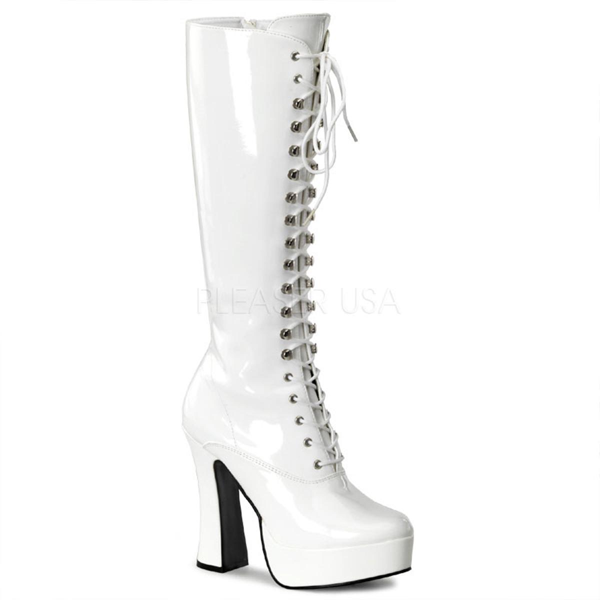 porter des bottes blanches talon haut plateforme