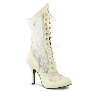 Bottines ivoires spéciales pieds larges
