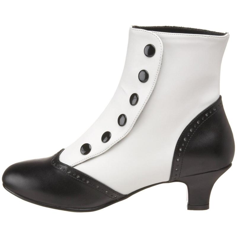 Acheter des bottines blanches et noires en ligne