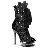 Bottines habillées noires strass