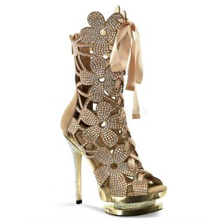 Bottines habillées dorées strass fantasia-1020